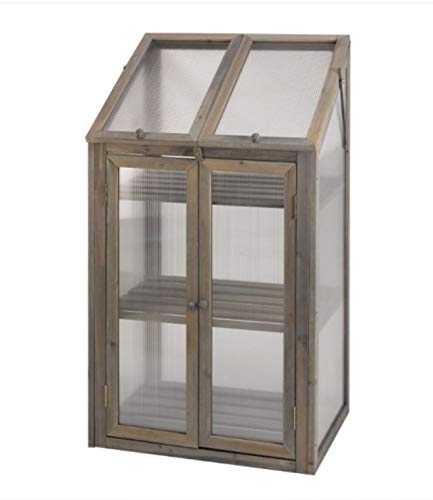Garden Mile 3 Tier Max Greenhouse, Wooden Framed Polycarbonate Greenhouse, for Germination of Seeds, Vegetables, Flowers or Cuttings in This Greenhouse