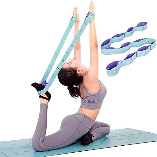 Anvin Sangle de Yoga Sangle d'exercice,Bandes élastiques d'exercice d'entraînement avec 11 Anneaux,Convient pour la Pratique pour Le Yoga Pilates entraînement physiothérapie Salle de Gym à Domicile