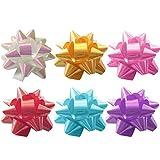 Holibanna 70pcs Lazos de Cinta para Envolver Guirnalda de Flores para Envolver Decoración Lazos de Estrella de Flores para Aniversario Bodas Navidad