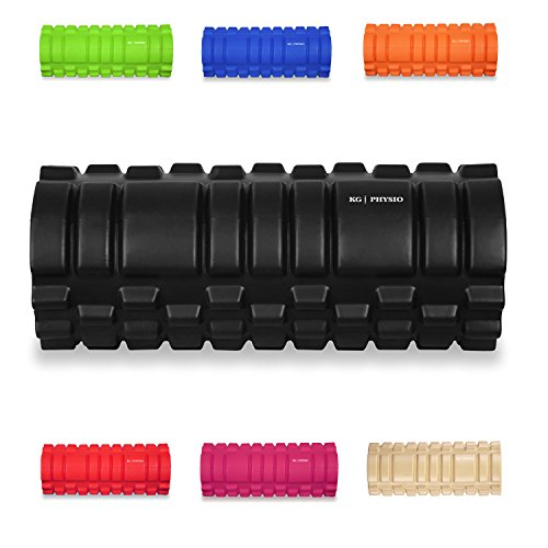 KG Physio Foam Roller - Massage Roller For Legs, Back and Arms - Ultra Lightweight Core Muscle Roller Essential to Release Deep Tension - 13'x5' Long Foam Roller