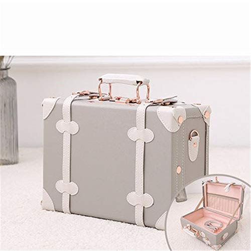 Wooden Leather Suitcases Women Lady Girls' Retro Suitcase Mini Bag Wedding Cosmetic Case Color Gift Box 12 Inch / 13 Inch / 16 Inch Boarding Luggage For Bedroom, Living Room, Dressing Room, Hallway