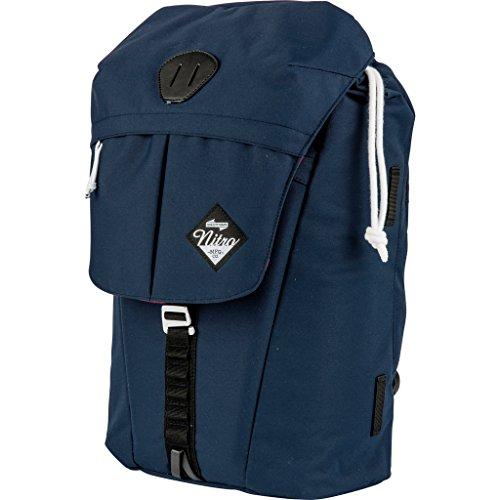"""Nitro Cypress sportiver Daypack Rucksack für Uni & Freizeit, Streetpack mit gepolstertem 15"""" Wide Laptopfach & Seesacktunnelverschluss, Überschlagdeckel, Indigo, 28 L , 42 cmx28 cmx16 cm, 680g"""