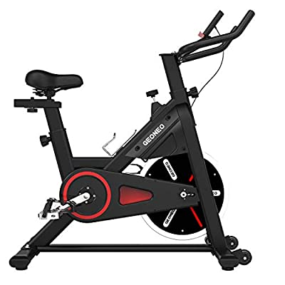 TRYA Indoor Exercise Bike Stationary, Magnetic Belt Drive Cycling Bikes with LCD Monitor for Home Workout