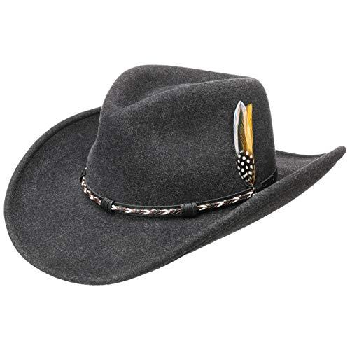 Stetson Sombrero VitaFelt Amasa Mujer/Hombre - Made in USA de Fieltro Vaquero...