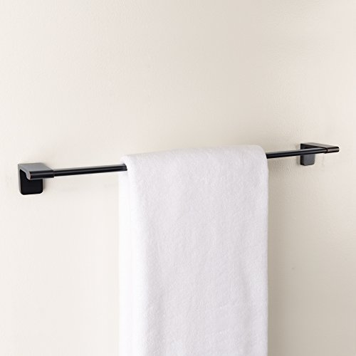 "Maykke Dash 24"" Wall Mount Single Towel Bar for Bathroom Lavatory, Kitchen or Hallway Modern Towel Holder, 3 Colors Available (Oil Rubbed Bronze) DLA1002403"