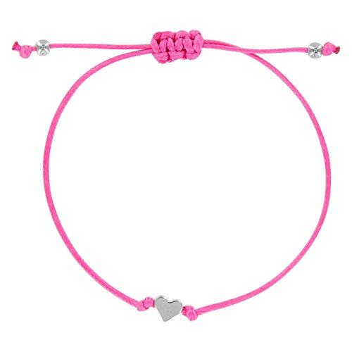 StarAppeal Herz Freundschaftsarmband, Herz Armband mit Perlen in Silber und Gold mit hochwertiger Wachsschnur gefertigt, Damen, Mädchen...