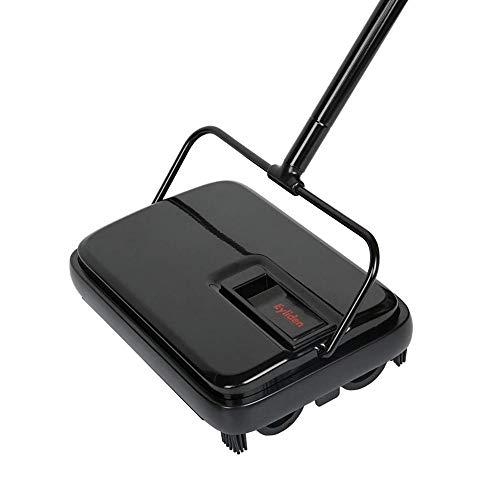 LLBH Mulibaihuo Piso práctico Sweeper Sweeper Lightweight Compact Durable y fácil de almacenar for la Oficina de la Oficina Alfombras Limpieza de Papel de Polvo (Color : Black)