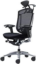 オカムラ オフィスチェア コンテッサ セコンダ 可動肘デスクチェア エクストラハイバック 座:クッション ブラック CC8DBS-FPC1