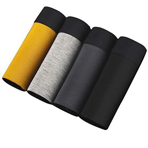 SWISSWELL 4er Pack Herren Unterhosen Micro Modal Seidenweich Boxershorts Men's Underwear Männer Hipster Modal Unterwäsche, Set 3, EU-S/Herstellergröße-L