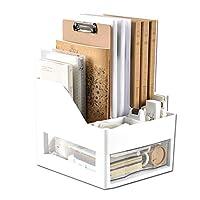 AERVEAL Desktop Creative Bookshelf Desktop Storage Shelf Multi-Layer Drawer (Gray) Multifunctional Display Shelf