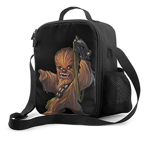 Henchuang Portable Lunch Box Chewbacca Lunch Box Water/Leakproof Insulated Lunch Bag for Travel Picnic 10.5''x8''x4.5''