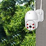 Mifty Cámara de Seguridad 1080P WiFi Exterior PTZ Cúpula de Velocidad inalámbrica IP Cámara CCTV Pan Tilt 4XZoom IR Vigilancia de la Red P2P CAM (Plug Type : EU Plug, Sensor Size : 3MP NO SD Card)
