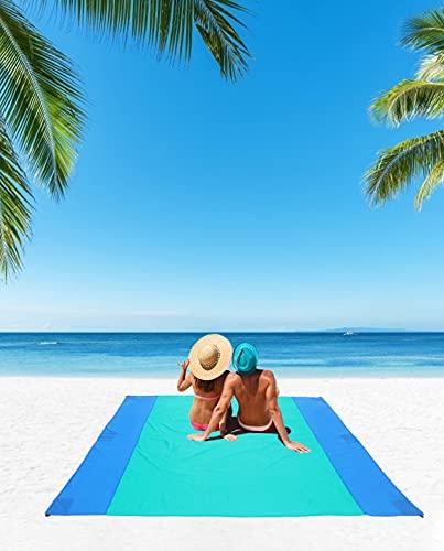 beach mat for adults JEAOUIA Beach Mat Sandproof for Beach Accessories (78