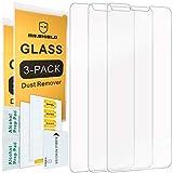 Mr Shield Lot de 3 films protecteurs d'écran en verre trempé pour LG V40 ThinQ