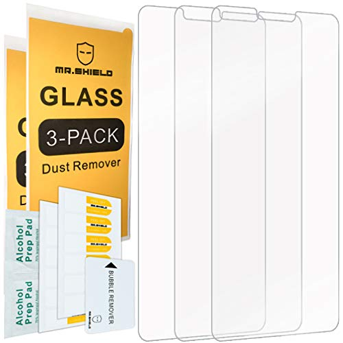[3-PACK]-Mr.Shield Designed For LGV40ThinQ [Tempered Glass] Screen Protector with Lifetime Replacement