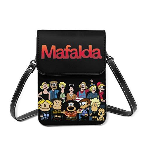 Hdadwy Mafalda sacs à bandoulière pour femmes petit sac à main pour téléphone portable avec bandoulière amovible portefeuille Anime