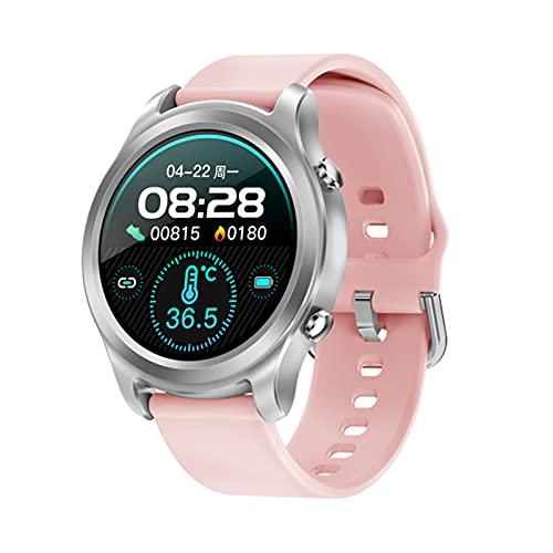 zyz G21 Smart Watch Men's Sports IP68 Impermeable, Seguimiento De La Salud, Monitoreo del Sueño Moda Reloj De Mujer Pulsera,Rosado