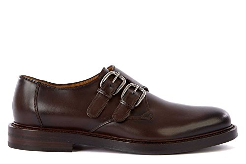 Gucci scarpe classiche uomo in pelle nuove monkstrap varenne marrone