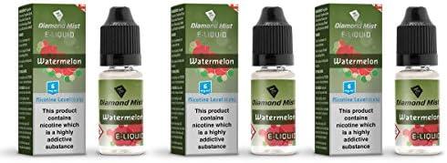 Diamond Mist E-Liquid For E-Cigarette - 3 Pack - No Nicotine (Menthol)