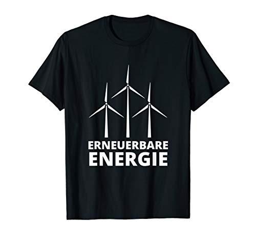 Erneuerbare Energie Windkraft Windrad Monteur Geschenk T-Shirt
