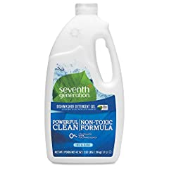 Seventh Generation Free and Clear Advanced dishwasher gel cuts through grease leaving dishes streak free and sparkling clean Safe* and effective formula of this liquid dishwasher detergent is made with plant based ingredients Dishwasher detergent liq...