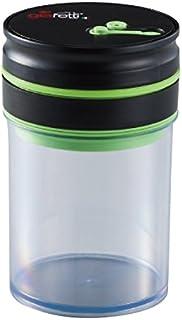 アピデ 真空保存容器 ブラック 0.8L:11.5×11.5×17.5cm