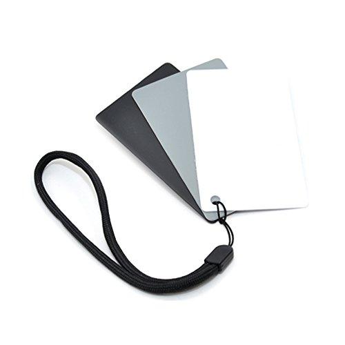 Kaavie GC-2 - Confezione da 3 schede tascabili per il bilanciamento del bianco e del grigio