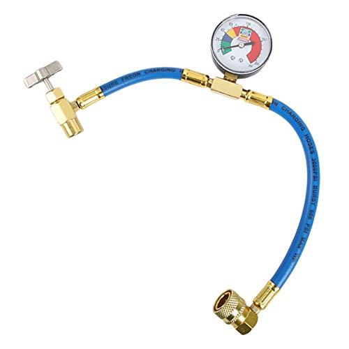 IUANC Tubo refrigerante R134A Gas refrigerante Automobile Aria condizionata Attrezzi Aria condizionata Ricarica Ricarica Misuratore Gas Gauge Gauge Accessori per Auto Alta qualità (Color Name : Blue)
