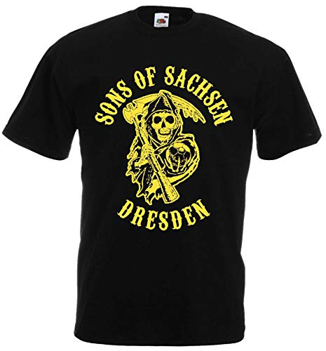 Sons of Sachsen Herren T-Shirt Dresden Ultras|schw-XXL