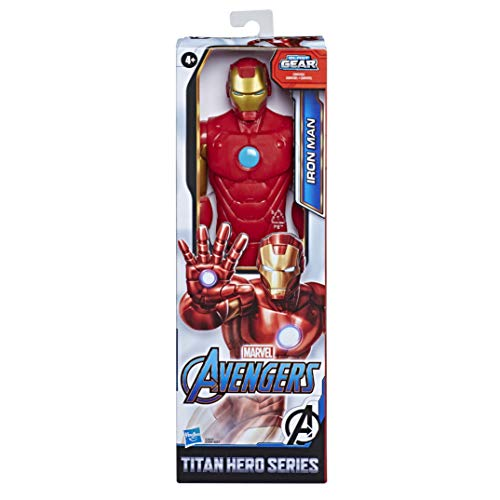 Marvel Avengers Titan Hero Serie Iron Man, 30 cm große Actionfigur mit Titan Hero Power FX Port
