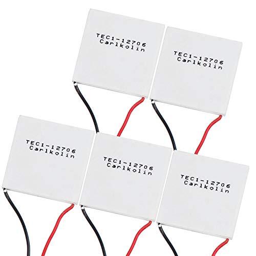 HSEAMALL 5 Stück TEC Thermoelektrischer Peltier,TEC1-12706 Thermoelectric,Peltierelemente Peltier Element TEC für Kühlen Heizen 12V 60W 5.8A