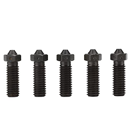 Wosune 3D Printer Accessory 3D Printer Nozzle, Nozzle, for Smooth Printing Printing(1.75mm 1.0mm)