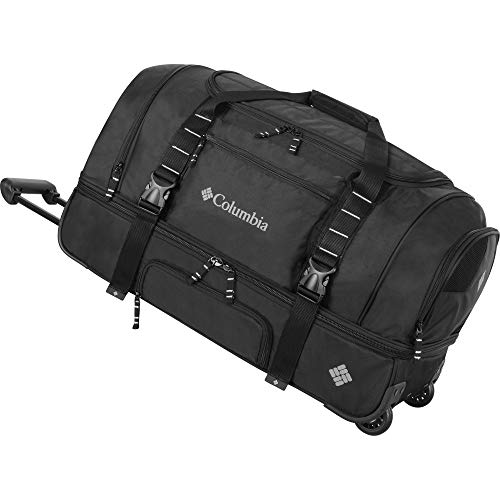 Columbia Wheeled Duffle Travel Bag - 26 Inch Large Rolling Lightweight Luggage Bags for Men , Black