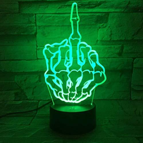 Mittelfinger ficken Nachtlicht LED 3D Illusion dekorative Lampe Touch Sensor 7 Farbwechsel Neuheit Beleuchtung Schreibtisch Lampe Gadget