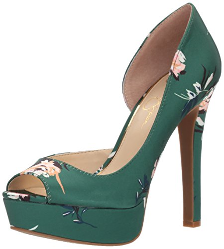Jessica Simpson Women's MARTELLA Platform, Emerald Multi, 9 Medium US