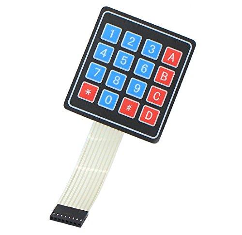Aihasd 4x4 Matrix Array 16 Tasten Tastatur Folientastatur für Arduino Raspberry Pi