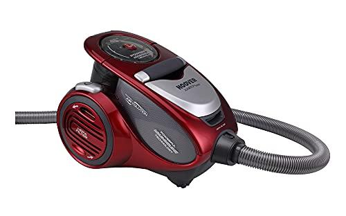 HooverXarion Pro XP25 Traino senza Sacco, 800 W, Parquet & Allergy, Rosso/Grigio