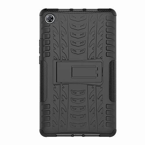 FANFO Huawei MediaPad M5 8.4 Hülle, [Dual Layer Armour Series] Anti-Scratch PC Rückwand Schale + Stoßfeste TPU Innenschutzabdeckung + Faltbarer Halterungen.schwarz