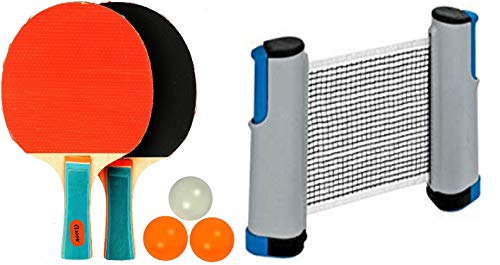 Arnav Table Tennis Set with Two Racquet Three Ball and One Adjustable Net