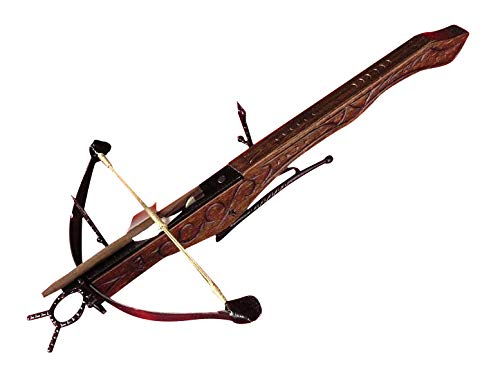 wood crossbow with scopes Historic Low Crossbow Wooden Knights' in XV Century. (AG0F.01) Decorative