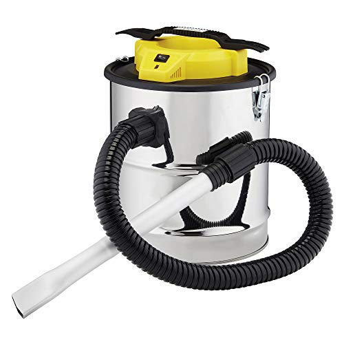 Zennox Fireplace Ash Vacuum Bagless Cleaner Lightweight 800w with 15L Tank, HEPA Filter & Dust Tool for Stove, BBQ & Fire Pits (Ash Vac)