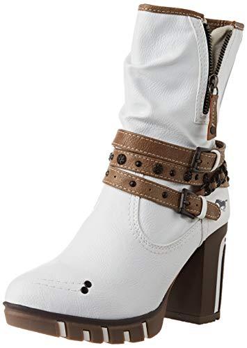 Mustang Damen 1363-601 Halblange Stiefel, weiß, 39 EU