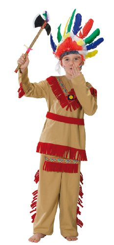 Rubies 1 2390 128 - Disfraz de indio para niño (talla 128)