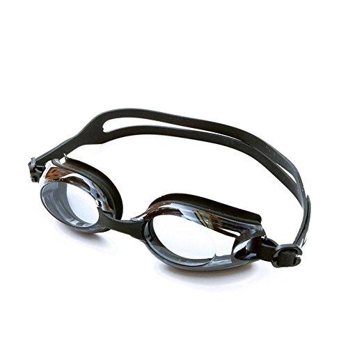 ZHAGOO Schwimmbrille-Myopie Grad Brille Wasserdicht Und Nebel HD Schwimmbrille, Anti-Beschlag Und UV-Schutz Für Männer, Frauen Und Kinder (-1.5 Bis -8.0),Black,4