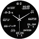 Orologio da parete moderno e creativo da 30,5 cm, orologio da parete silenzioso senza ticchettio, per casa, cucina, soggiorno, ufficio, camera da letto, studio, decorazione per la casa (nero)