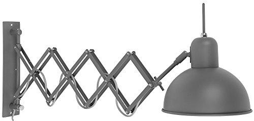 it's about RoMi Industrielle Wandlampe Aberdeen Wandleuchte 59/85 cm, Graugruen