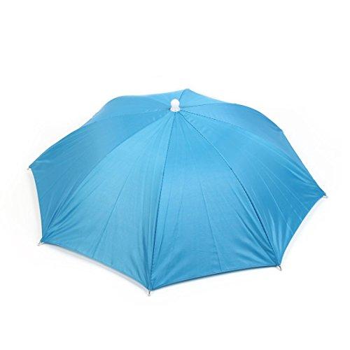 Sourcingmap Outil de pêche élastique Chapeau Parapluie Pliable Bleu
