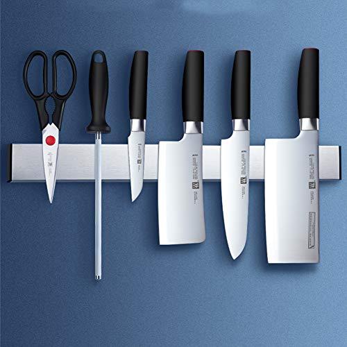 Barra magnética para Cuchillos, Portacuchillos Magnético de Acero Inoxidable, Soporte de Cuchillo Magnetico Auto para Varios Cuchillos,60cm