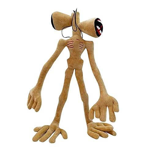 Siren Head - Peluche de cabeza de sirena, 55 cm, juguete para niños, peluche, anime, peluche, suave, relleno, peluche, gato, muñeca de juguete, monstruo, sirena, color rojo, negro y marrón