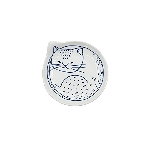 GYCZC Retro Tableware Odd-Shaped Cute Art Japanese-Style Plate Cartoon Home Creative Simple Cat Porcelain Plate